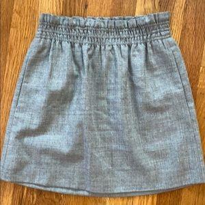 J. Crew Size 0 Grey Wool Skirt